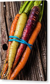 Rainbow Carrots Acrylic Print by Garry Gay