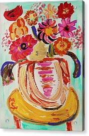 Rainbow In The Vase Acrylic Print by Mary Carol Williams