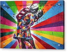Rainbow Kiss Acrylic Print by Az Jackson