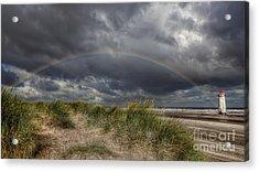Rainbow Lighthouse Acrylic Print by Adrian Evans