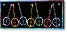 Rainbow Of Banjos Acrylic Print by Jenny Armitage