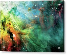 Rainbow Orion Nebula Acrylic Print by The  Vault - Jennifer Rondinelli Reilly