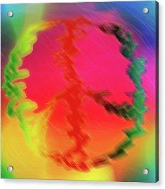 Rainbow Peace Acrylic Print by Adam LeCroy