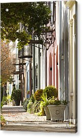 Rainbow Row Charleston Sc 2 Acrylic Print by Dustin K Ryan
