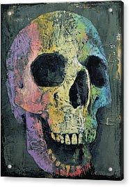 Happy Skull Acrylic Print by Michael Creese