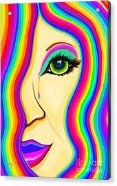 Rainbow Tear Mourning Acrylic Print by Nick Gustafson