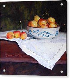 Rainier Cherries Acrylic Print by Jeanne Rosier Smith