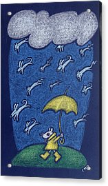 Raining Cats And Dogs Acrylic Print by wendy CHO