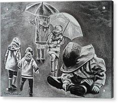 Rainy Daze Acrylic Print by Carla Carson