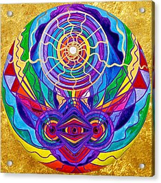 Raise Your Vibration Acrylic Print by Teal Eye  Print Store