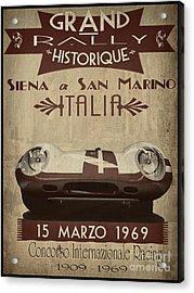 Rally Italia Acrylic Print by Cinema Photography