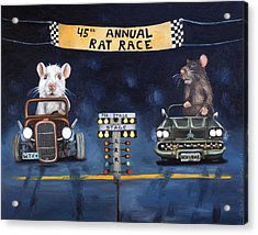 Rat Race Acrylic Print by Leah Saulnier The Painting Maniac