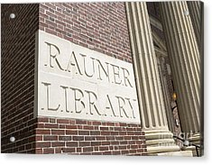Rauner Library Dartmouth College Acrylic Print by Edward Fielding