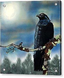 Raven Moon Acrylic Print by Linda Marcille