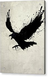 Raven Acrylic Print by Nicklas Gustafsson