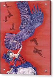 Ravenous Acrylic Print by Vlasta Smola
