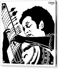 Ravi Shanker  Acrylic Print by International Artist Brent Litsey