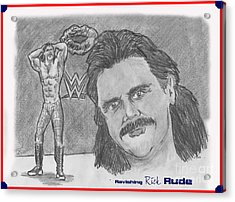 Ravishing Rick Rude Acrylic Print by Chris  DelVecchio
