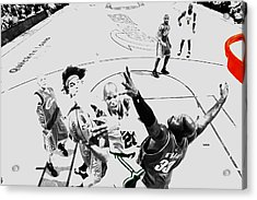 Ray Allen In Traffic Acrylic Print by Brian Reaves