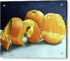 Ready For Oranges Acrylic Print by Linda Apple