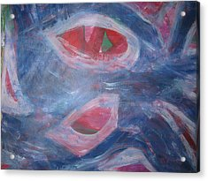 Reality's Impersonal Eye Acrylic Print by Paula Andrea Pyle