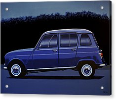 Renault 4 1961 Painting Acrylic Print by Paul Meijering