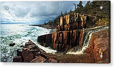 Receding Storm Acrylic Print by Bill Caldwell -        ABeautifulSky Photography