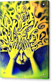 Recesses Acrylic Print by Paulo Zerbato