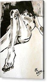 Reclining Male Acrylic Print by Joanne Claxton