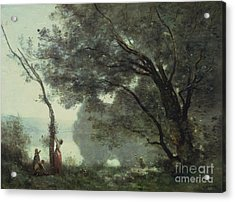 Recollections Of Mortefontaine Acrylic Print by Jean Baptiste Corot