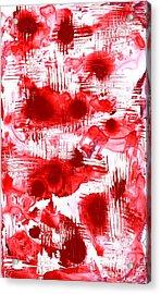 Red And White Acrylic Print by Anastasiya Malakhova
