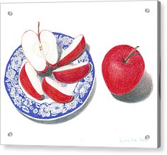 Red Apples Acrylic Print by Loraine LeBlanc