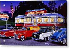 Red Arrow Diner Acrylic Print by Bruce Kaiser