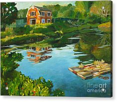 Red Barn In Kennebunkport Me Acrylic Print by Claire Gagnon