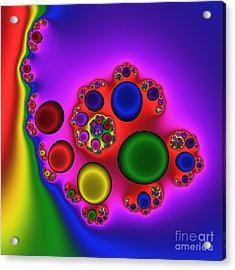 Red Blood Cells 215 Acrylic Print by Rolf Bertram