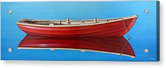 Red Boat Acrylic Print by Horacio Cardozo