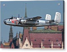 Red Bull North American B-25j Mitchell Acrylic Print by Anton Balakchiev