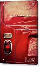 Red Camper Acrylic Print by Tim Gainey