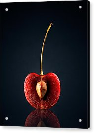 Red Cherry Still Life Acrylic Print by Johan Swanepoel