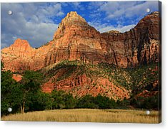 Red Cliffs Of Zion Acrylic Print by Raymond Salani III