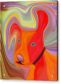 Red Dog Acrylic Print by Ruth Palmer