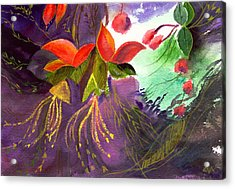 Red Flowers Acrylic Print by Anil Nene