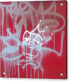 Red Graffiti Acrylic Print by Anna Villarreal Garbis