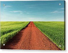 Red Gravel Road Acrylic Print by Todd Klassy
