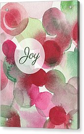 Red Green Fuchsia Chic Holiday Card Acrylic Print by Beverly Brown
