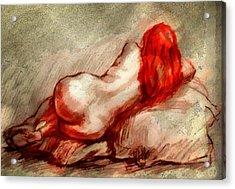 Red Acrylic Print by Gun Legler