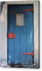 Red Hinges Acrylic Print by Bob Whitt
