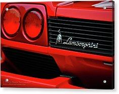Red Lamborghini Acrylic Print by Jim Harris