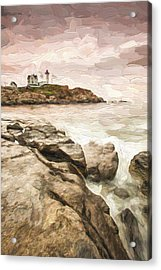 Red Lighthouse II Acrylic Print by Jon Glaser