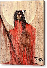 Red Man Acrylic Print by Patrick Trotter